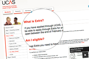 The Extra as UCAS Applicants' Option
